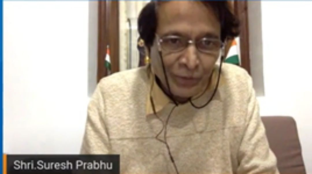 """Suresh Prabhu speaks at the conference """"Water and sanitation for all: the fight against pandemics"""""""